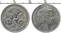Изображение Монеты Австралия 5 центов 2002 Медно-никель XF Елизавета II