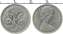 Изображение Монеты Австралия 5 центов 1977 Медно-никель XF Елизавета II. Ехидна