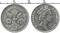 Изображение Монеты Австралия 5 центов 1994 Медно-никель XF Елизавета II. Ехидна