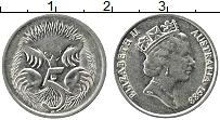 Изображение Монеты Австралия 5 центов 1988 Медно-никель XF Елизавета II. Ехидна