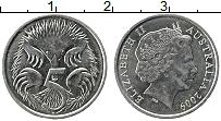 Изображение Монеты Австралия 5 центов 2009 Медно-никель UNC- Елизавета II. Ехидна