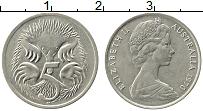 Изображение Монеты Австралия 5 центов 1970 Медно-никель XF Елизавета II. Ехидна