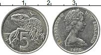 Изображение Монеты Новая Зеландия 5 центов 1975 Медно-никель XF Елизавета II. Ящериц