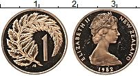 Изображение Монеты Новая Зеландия 1 цент 1982 Медь Proof- Елизавета II.