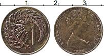 Изображение Монеты Новая Зеландия 1 цент 1979 Медь XF Елизавета II.