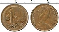 Изображение Монеты Австралия 1 цент 1966 Медь XF Елизавета II. Кускус