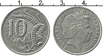 Изображение Монеты Австралия 10 центов 2002 Медно-никель XF Елизавета II. Лирохв