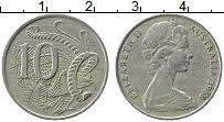 Изображение Монеты Австралия 10 центов 1968 Медно-никель XF Елизавета II. Лирохв