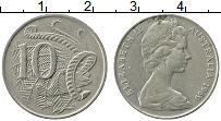 Изображение Монеты Австралия 10 центов 1969 Медно-никель XF Елизавета II. Лирохв