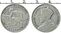 Изображение Монеты Новая Зеландия 1 шиллинг 1934 Серебро VF