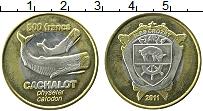 Изображение Монеты Остров Крозет 500 франков 2011 Биметалл XF