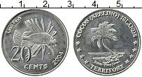 Продать Монеты Кокосовые острова 20 центов 2004 Медно-никель