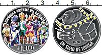 Изображение Монеты Уругвай 1000 песо 2020 Серебро Proof Цифровая печать. Кар