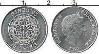 Изображение Монеты Соломоновы острова 20 центов 2012 Железо XF