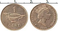Изображение Монеты Соломоновы острова 1 цент 2005 Медь XF