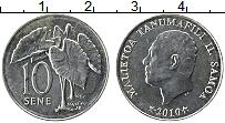 Изображение Монеты Самоа 10 сене 2010 Железо XF Танумафилли II
