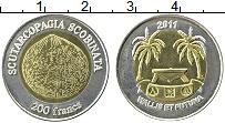Продать Монеты Уоллис и Футуна 200 франков 2011 Биметалл