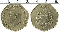 Изображение Монеты Самоа 1 доллар 2002 Латунь UNC- Малиетоа Танумафили