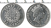Изображение Монеты Соломоновы острова 20 центов 2005 Железо UNC- Елизавета II.