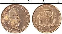 Изображение Монеты Ямайка 25 центов 1995 Медь XF Маркус Гарвей