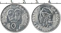 Изображение Монеты Полинезия 10 франков 2000 Медно-никель UNC- Протекторат Франции