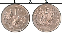 Изображение Монеты ЮАР 1 цент 1974 Медь XF