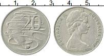 Изображение Монеты Австралия 20 центов 1968 Медно-никель XF Елизавета II. Утконо