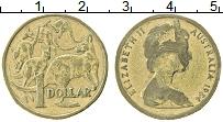 Изображение Монеты Австралия 1 доллар 1984 Латунь VF