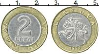 Изображение Монеты Литва 2 лит 1999 Биметалл XF