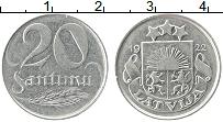 Изображение Монеты Латвия 20 сантим 1922 Медно-никель XF Герб