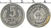 Изображение Монеты Узбекистан 5 сомов 1997 Медно-никель XF