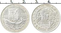 Изображение Монеты Италия 200 лир 1989 Серебро UNC- 500 лет открытия Аме