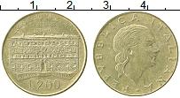 Изображение Монеты Италия 200 лир 1990 Латунь XF 100 лет со дня основ