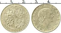 Изображение Монеты Италия 200 лир 1993 Латунь XF 70 лет военной авиац