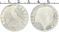 Изображение Монеты Италия 500 лир 1989 Серебро Proof-