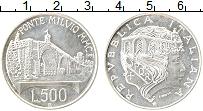 Изображение Монеты Италия 500 лир 1991 Серебро UNC-