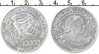 Изображение Монеты Италия 10000 лир 1997 Серебро UNC- 200 лет Итальянскому