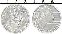 Изображение Монеты Италия 10000 лир 1994 Серебро UNC-