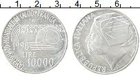 Изображение Монеты Италия 10000 лир 1998 Серебро UNC-