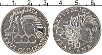 Изображение Монеты Италия 1000 лир 1996 Серебро UNC- Олимпийские игры в А