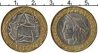 Изображение Монеты Италия 1000 лир 1998 Биметалл XF Республика