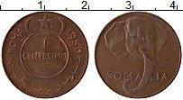 Изображение Монеты Сомали 1 сентесимо 1950 Медь XF Слон