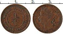 Изображение Монеты Стрейтс-Сеттльмент 1/4 цента 1899 Медь VF Виктория