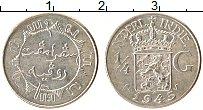 Изображение Монеты Нидерландская Индия 1/4 гульдена 1945 Серебро XF Герб