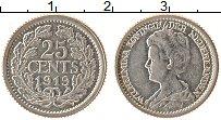 Изображение Монеты Нидерланды 25 центов 1919 Серебро XF