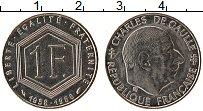 Изображение Монеты Франция 1 франк 1988 Медно-никель XF Шарль де Голь