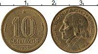 Изображение Монеты Бразилия 10 сентаво 1953 Латунь XF Хосе Бонифацио