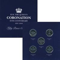 Изображение Подарочные монеты Остров Мэн 65 лет Коронации Елизаветы II 2018 Медно-никель BUNC