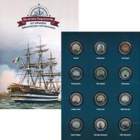 Изображение Подарочные монеты Острова Кука Великие парусники 2015 Серебро UNC