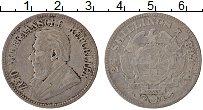 Изображение Монеты ЮАР 2 1/2 шиллинга 1894 Серебро VF Пауль Крюгер